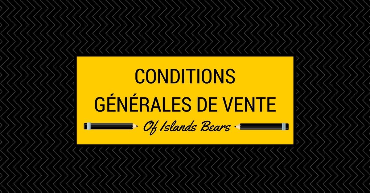 Of Islands Bears - Conditions générales de vente pour l'achat d'un chiot cocker américain
